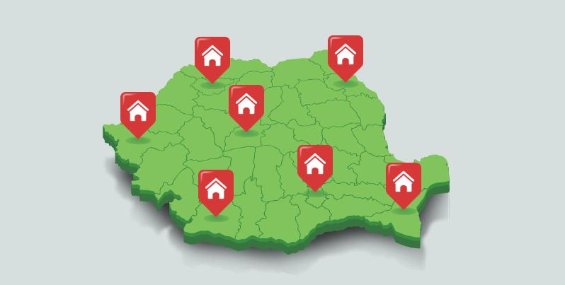 orasele si cartierele din Romania
