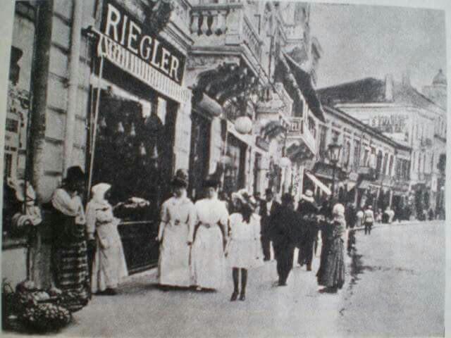 Lipscani în anul 1900